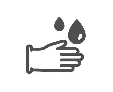 Cleaning rubber gloves icon. Hygiene sign. Washing Housekeeping equipment sign. Quality design element. Classic style icon. Vector