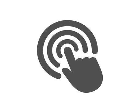 Hand Click icon. Finger touch sign. Cursor pointer symbol. Quality design element. Classic style icon. Vector