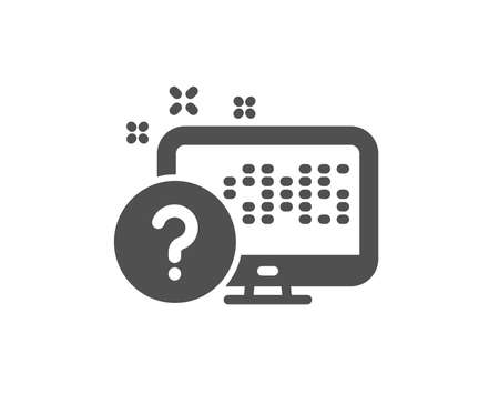Question mark icon. Online quiz test sign. Quality design element. Classic style icon. Vector
