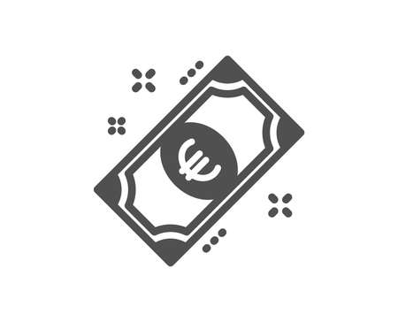Euro money icon. Payment method sign. Eur symbol. Quality design element. Classic style icon. Vector Çizim
