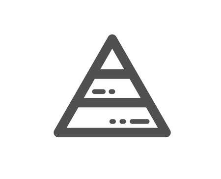 Pyramid chart icon. Analytics graph sign. Market analytics symbol. Quality design element. Classic style icon. Vector