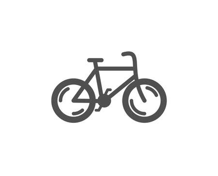 Bicycle transport icon. Bike public transportation sign. Driving symbol. Quality design element. Classic style icon. Vector