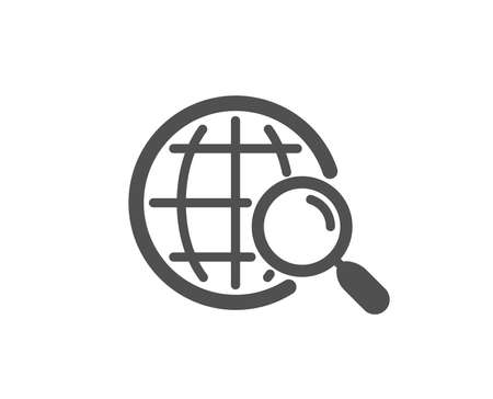 Web search icon. Find internet results sign. Quality design element. Classic style icon. Vector Ilustrace