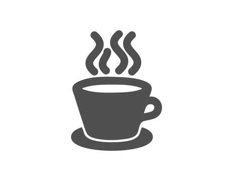 Tea or Coffee icon. Hot drink sign. Fresh beverage symbol. Quality design element. Classic style icon. Vector 向量圖像