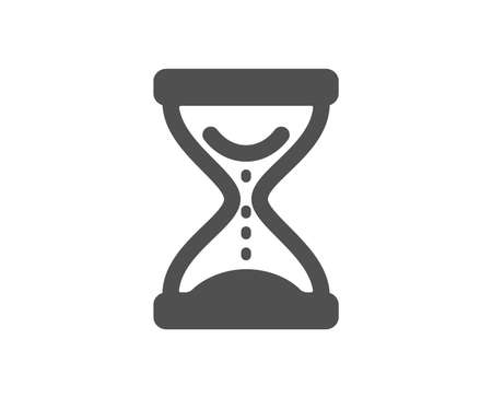 Time hourglass icon. Sand watch sign. Quality design element. Classic style icon. Vector