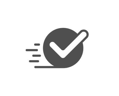 승인된 아이콘입니다. 수락되거나 확인된 기호입니다. 품질 디자인 요소입니다. 클래식 스타일 아이콘입니다. 벡터
