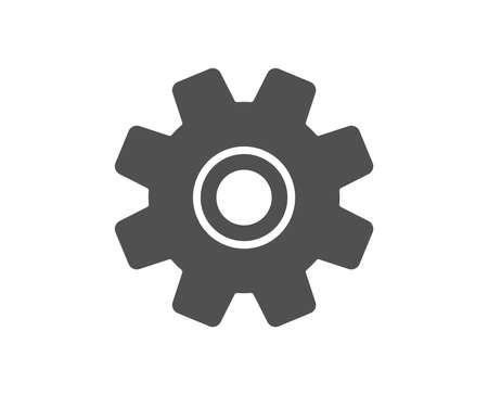 Cogwheel icon. Service sign. Transmission Rotation Mechanism symbol. Quality design element. Classic style icon. Vector