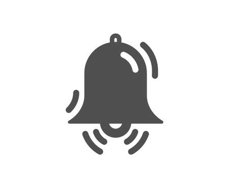 Clock bell icon. Alarm sign. Quality design element. Classic style icon. Vector Illusztráció