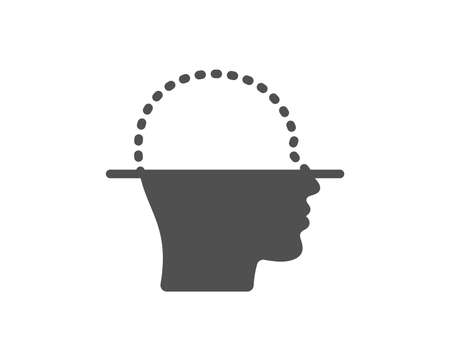 Face scanning icon. Facial scan sign. Head recognition symbol. Quality design element. Classic style icon. Vector Ilustracja