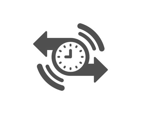 Timer icon. Time or clock sign. Quality design element. Classic style icon. Vector Illustration