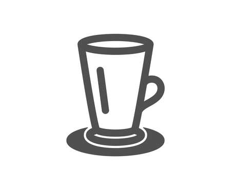 Cup of Tea icon. Fresh beverage sign. Latte or Coffee symbol. Quality design element. Classic style icon. Vector