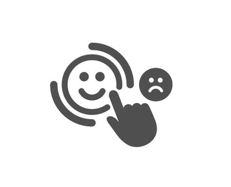 Customer satisfaction icon. Positive feedback sign. Smile symbol. Quality design element. Classic style icon. Vector
