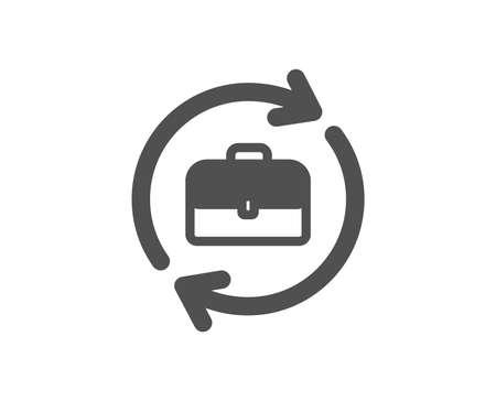 Business recruitment icon. Portfolio case or Job Interview sign. Quality design element. Classic style icon. Vector