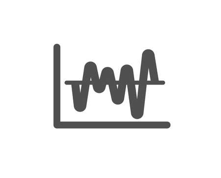Investment chart icon. Economic graph sign. Stock exchange symbol. Business finance. Quality design element. Classic style icon. Vector Illustration
