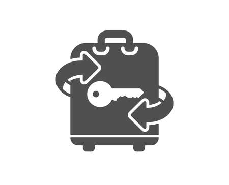 Luggage room icon. Baggage Locker sign. Travel service symbol. Quality design element. Classic style icon. Vector