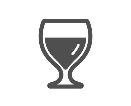 Wine glass icon. Alcohol drink sign. Beverage symbol. Quality design element. Classic style icon. Vector