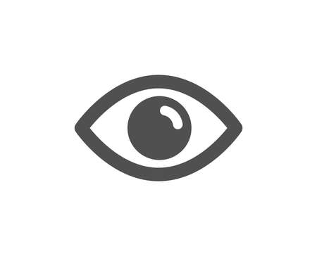 Eye icon. Look or Optical Vision sign. View or Watch symbol. Quality design element. Classic style icon. Vector Foto de archivo - 125931530