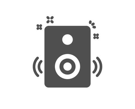 Speakers icon. Music sound sign. Musical device symbol. Quality design element. Classic style icon. Vector
