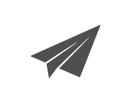 Paper plane icon. Airplane flight transport sign. Share symbol. Quality design element. Classic style icon. Vector 写真素材 - 125931539