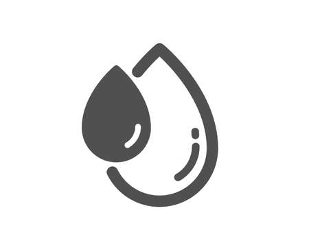 Oil drop icon. Hair care serum sign. Quality design element. Classic style icon. Vector 向量圖像