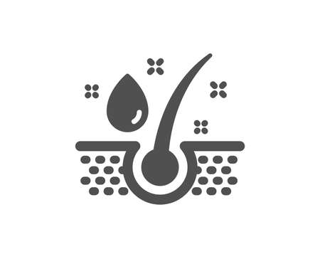 Serum oil drop icon. Hair care sign. Quality design element. Classic style icon. Vector 写真素材 - 125931557