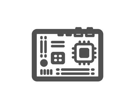 Motherboard icon. Computer component hardware sign. Quality design element. Classic style icon. Vector