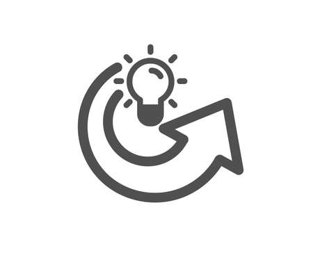Share idea icon. Light bulb or Lamp sign. Creativity, Solution or Thinking symbol. Quality design element. Classic style icon. Vector