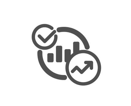 Charts, Statistics icon. Report graph or Sales growth sign. Analytics data symbol. Quality design element. Classic style icon. Vector Illustration