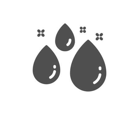 Water drop icon. Clean aqua sign. Liquid symbol. Quality design element. Classic style icon. Vector Illustration