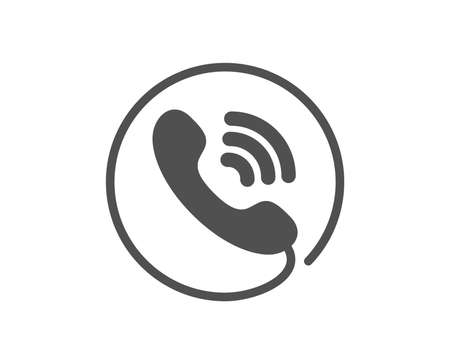 Call center service icon. Phone support sign. Feedback symbol. Quality design element. Classic style icon. Vector Illustration