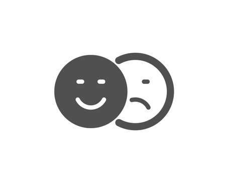 Like and dislike icon. Smile sign. Social media feedback symbol. Quality design element. Classic style icon. Vector Illustration