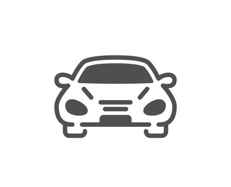Car transport icon. Transportation vehicle sign. Driving symbol. Quality design element. Classic style icon. Vector Illustration