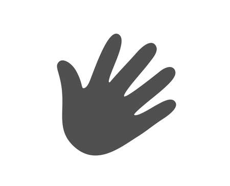 Hand wave icon. Palm sign. Quality design element. Classic style icon. Vector Çizim