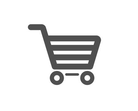 Shopping cart icon. Online buying sign. Supermarket basket symbol. Quality design element. Classic style icon. Vector Archivio Fotografico - 125931673