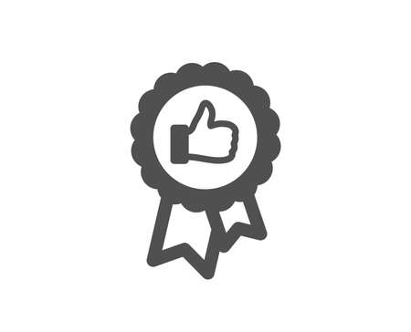 Positive feedback icon. Award medal symbol. Reward sign. Quality design element. Classic style icon. Vector