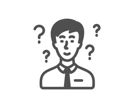 Question mark icon. Support consultant sign. Quality design element. Classic style icon. Vector 版權商用圖片 - 115750484