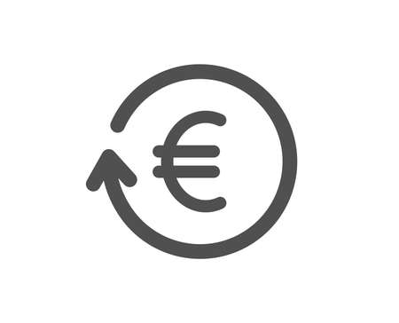 Euro Money exchange icon. Banking currency sign. EUR Cash symbol. Quality design element. Classic style icon. Vector Foto de archivo - 125931716