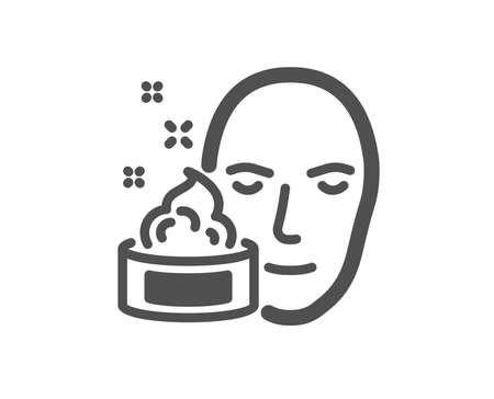 Face cream icon. Skin care lotion sign. Cosmetics symbol. Quality design element. Classic style icon. Vector Illustration
