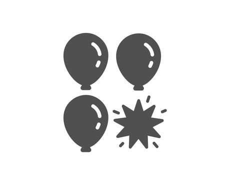 Balloon dart icon. Amusement park sign. Pop the balloon symbol. Quality design element. Classic style icon. Vector