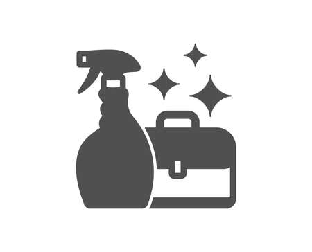 Cleaning spray icon. Washing liquid or Cleanser symbol. Housekeeping service sign. Quality design element. Classic style icon. Vector 向量圖像