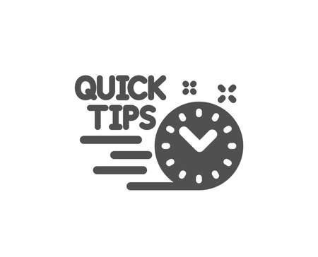 Quick tips icon. Helpful tricks sign. Tutorials symbol. Quality design element. Classic style icon. Vector Banque d'images - 125931783