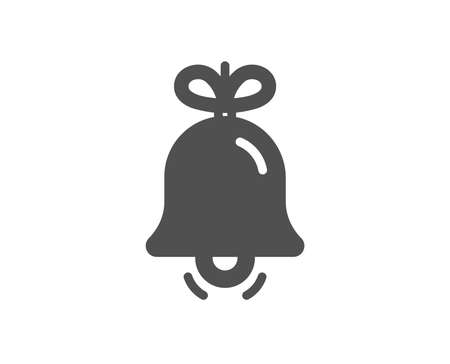Christmas bell icon. New year tree decoration sign. Quality design element. Classic style icon. Vector