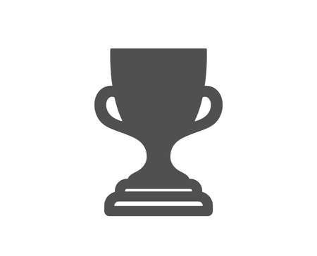 Icona della Coppa del premio. Simbolo del trofeo del vincitore. Segno di successo sportivo. Elemento di design di qualità. Icona di stile classico. Vettore Vettoriali
