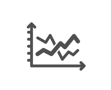 Diagram chart icon. Presentation graph sign. Market analytics symbol. Quality design element. Classic style icon. Vector Illusztráció