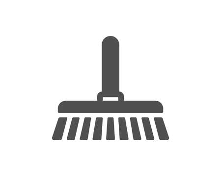 Cleaning mop icon. Sweep or Wash a floor symbol. Washing Housekeeping equipment sign. Quality design element. Classic style icon. Vector