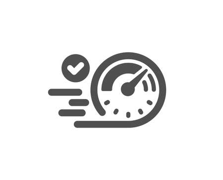 Speedometer icon. Time concept sign. Quality design element. Classic style icon. Vector  イラスト・ベクター素材