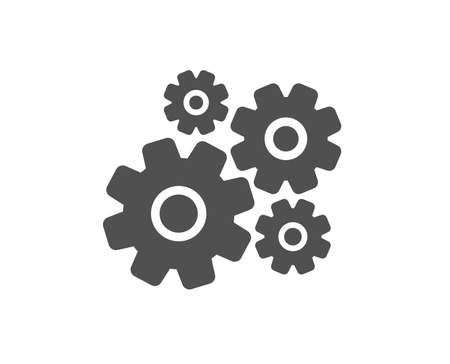 Cogwheel icon. Engineering tool sign. Cog gear symbol. Quality design element. Classic style icon. Vector