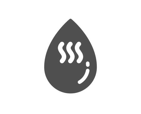 Hot water drop icon. Clean aqua sign. Liquid symbol. Quality design element. Classic style icon. Vector