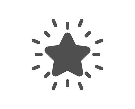 Rang Sternsymbol. Erfolgs-Belohnungssymbol. Bestes Ergebniszeichen. Hochwertiges Gestaltungselement. Symbol im klassischen Stil. Vektor