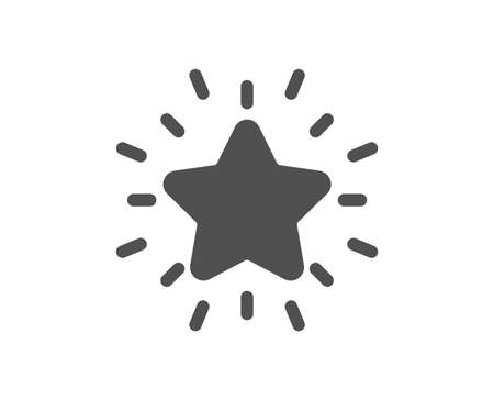 Rank star icon. Success reward symbol. Best result sign. Quality design element. Classic style icon. Vector